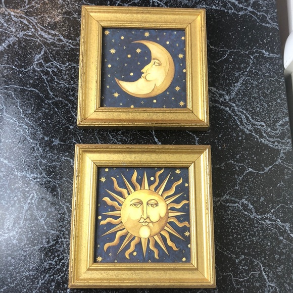 ✅SOLD Vintage celestial sun & moon pictures